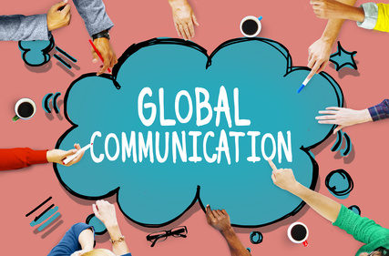 Global Communication Connection Community Concept