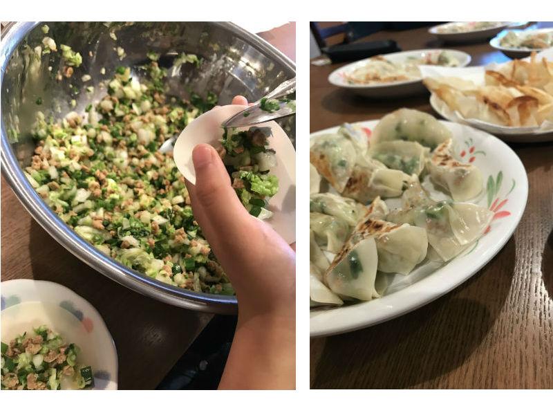 食事力アップ!サポート・プロジェクト料理教室:動物性不使用餃子